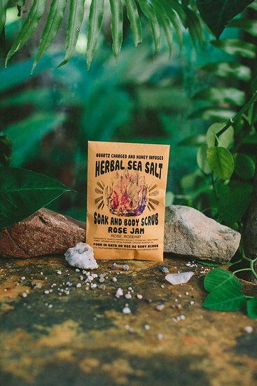 Rose Jam Herbal Salt Soak Scrubs