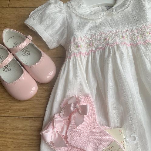 Erin white smock dress