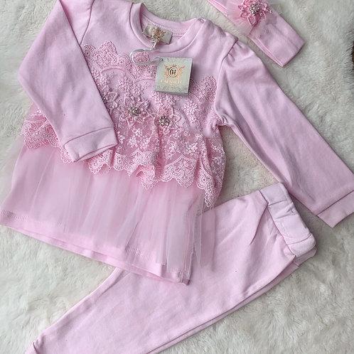 Joy 3pc pink set