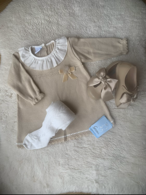 Bibby Beige Knit Dress
