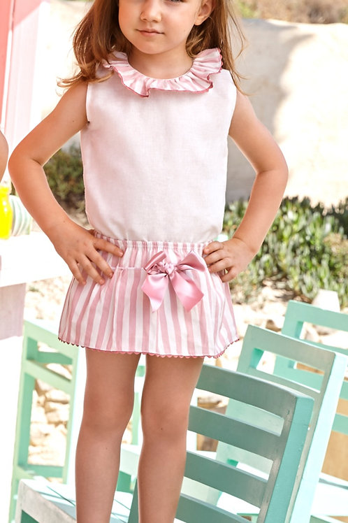 Penelope 2pc Stripe Skirt Set