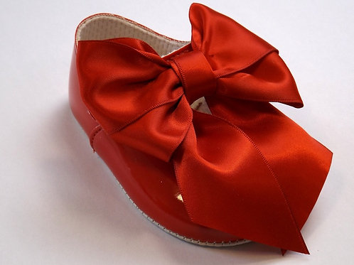 Large Red Bow Pram shoes