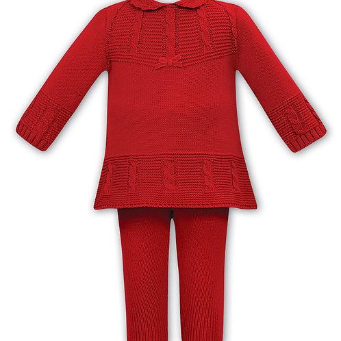 Zoe Sarah Louise Red Knit set