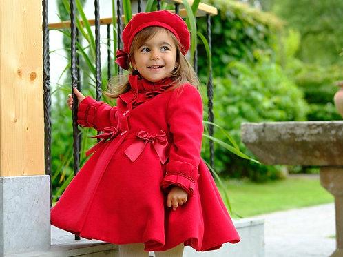 Red Sonata Bow Coat