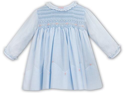 Blue Sarah Louise Smock Dress