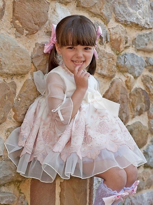 Myra Pink Organaza Puffball dress