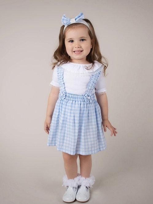 Blue Gingham CarameloKids dress set