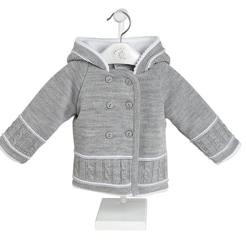 Double breasted Grey knitted jacket