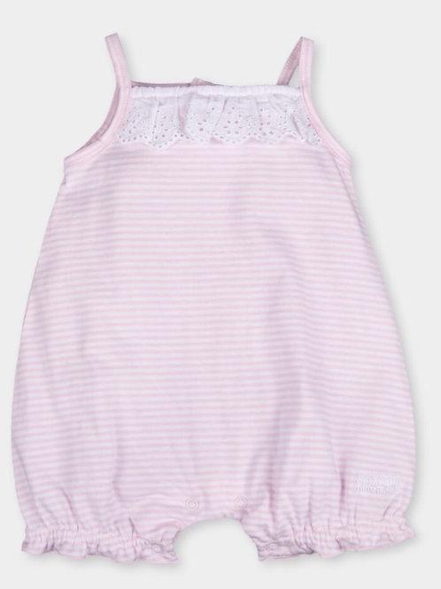 White and Pink Striped Tutu Piccollo Romper