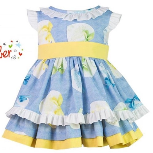 Yellow and blue floral Alber dress