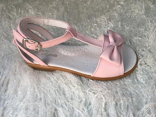 Pretty Originals Pink Bow Sandals