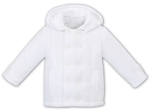 White padded coat