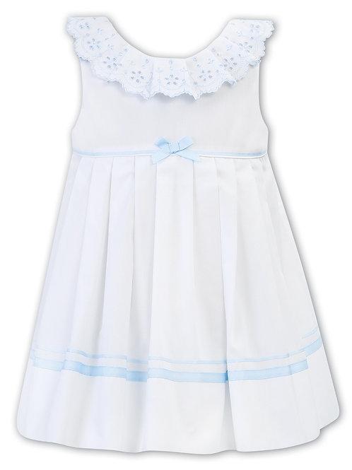 Eliza White and Blue Sarah Louise Dress