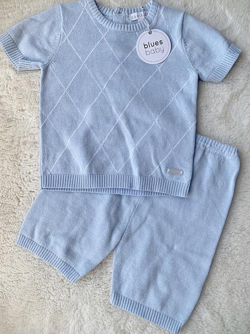 Blues Baby diamond knit set