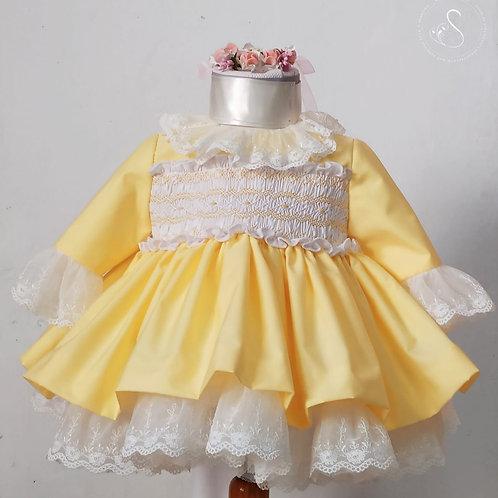 Lemon Smock Dress