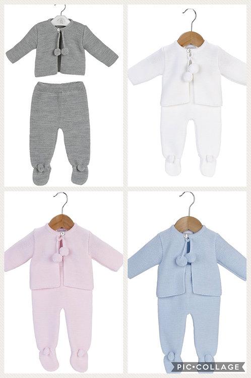 Knitted 2pc Pom Pom sets