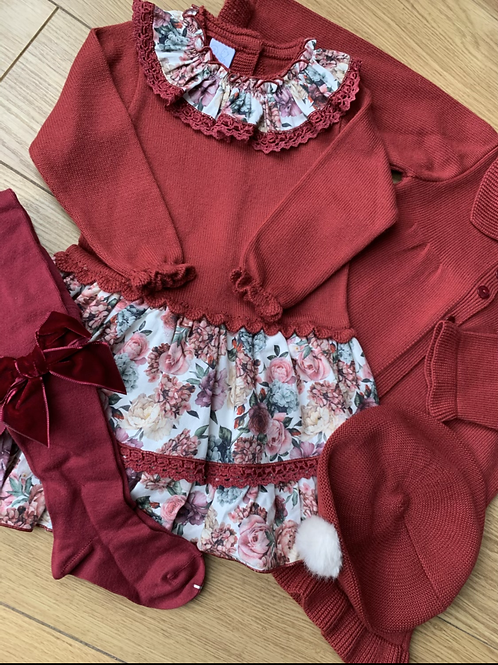 Matilda Floral Red Dress