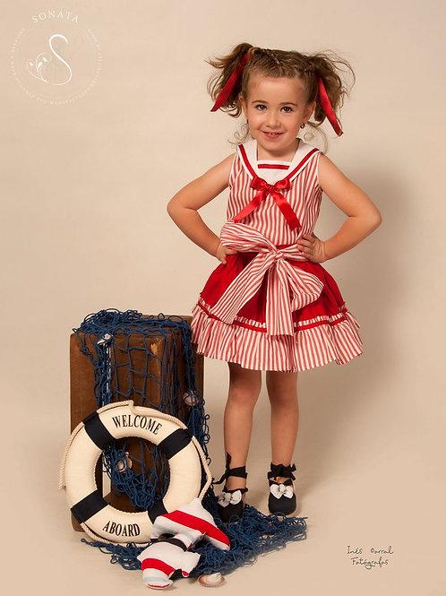 Antonia Sonata Red stripe 2pc set
