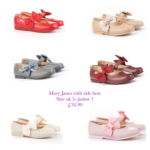 Macy Side bow Mary Janes