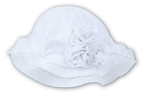 White Sarah Louise Sun hat