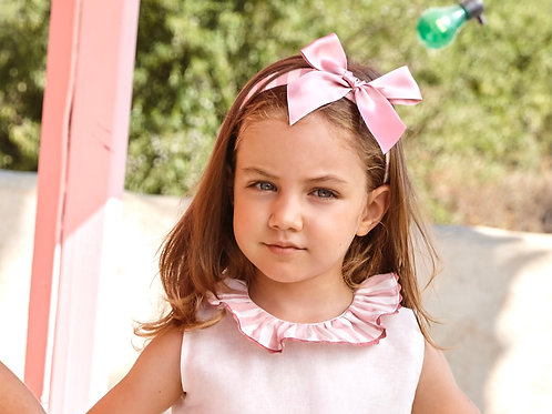 Pink stripe headband