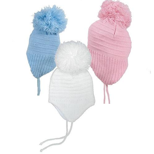 Baby pompom hats