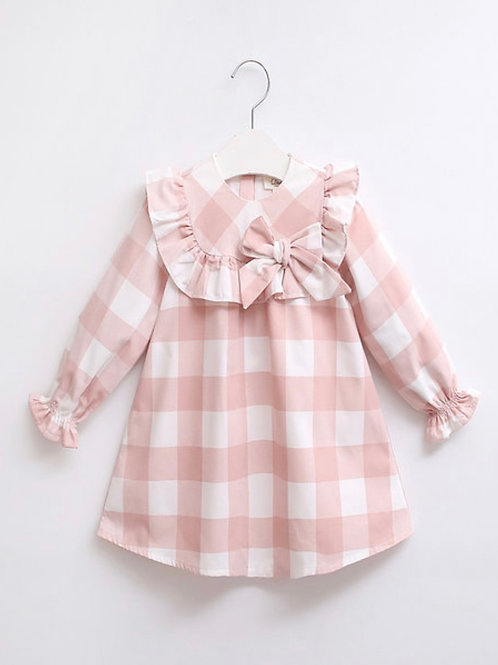 Olivia pink and white check dress