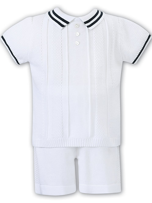 Jack White and Navy Short Set