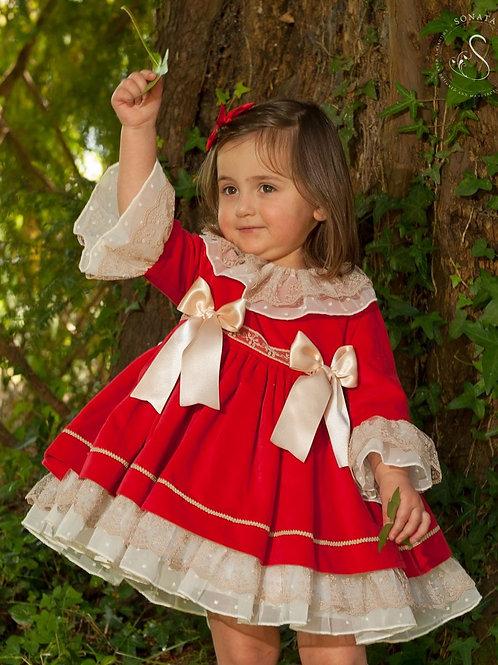 Ruby Red Velvet Puffball