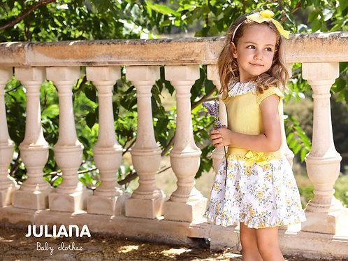 Daphne Lemon Floral Drop Waite Dress