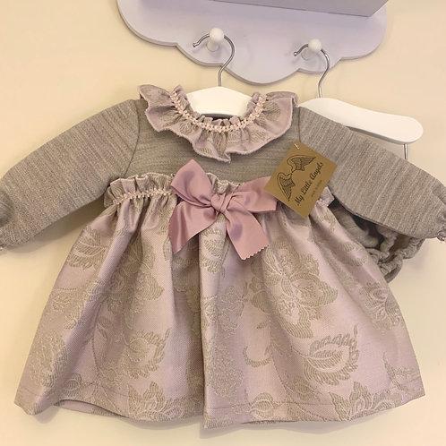 Lydia Grey and Pink dress