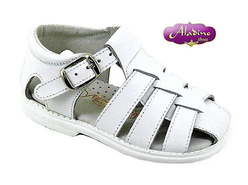 Boys white closed toe sandals