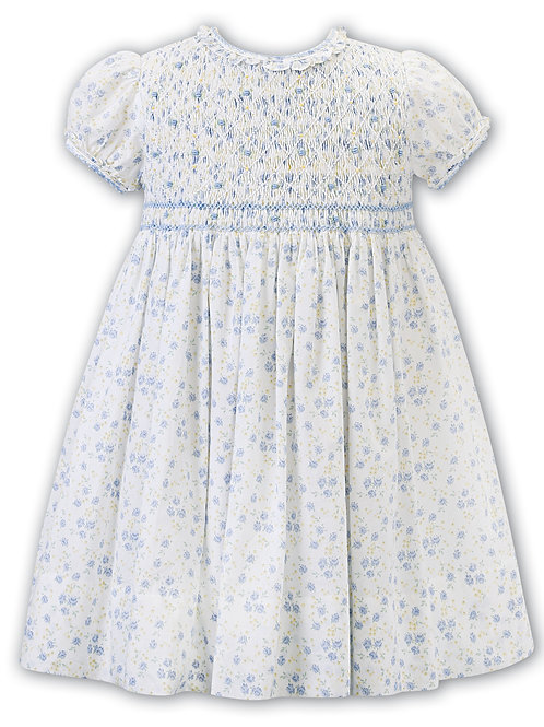 Blue and Lemon Floral Dress