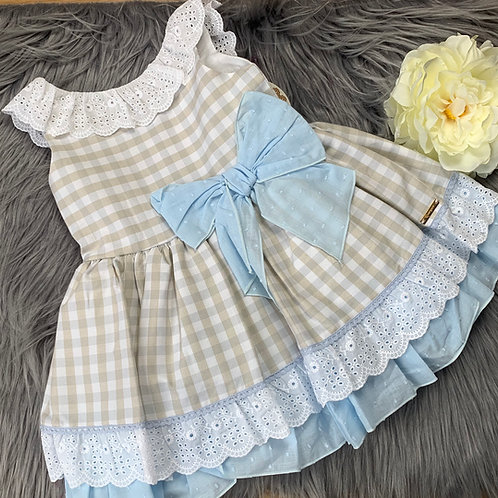 Amie Check dress with bow