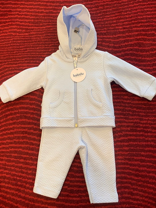 Babidu Blue Hooded Tracksuit