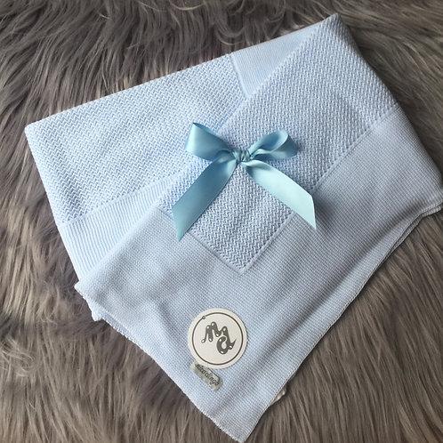 Blue Bow Blanket