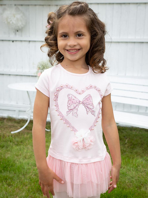 Pink heart leggins set.