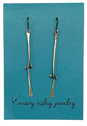 Mary Risley Sterling Bone Hinge Earrings