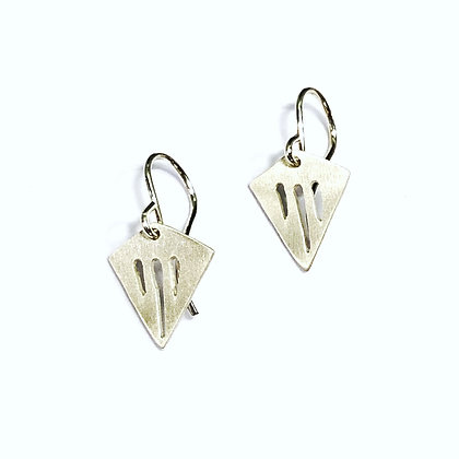 Mary Risley - Sterling Triangle Earrings
