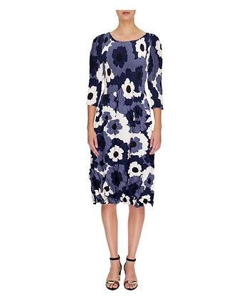 """Alquema - Smash Pocket Dress """"Indigo Flower Spot"""""""