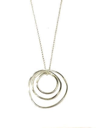 Mary Risley - Sterling 3 Ring Necklace