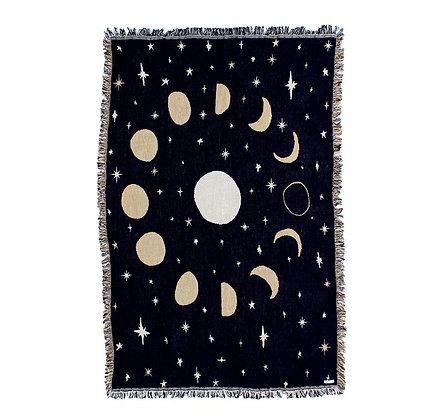Calhoun & Co - Moon Phases Throw Blanket