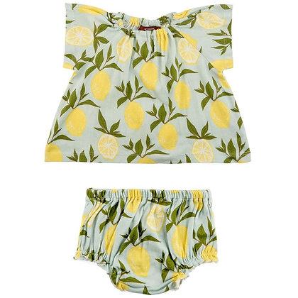Milkbarn - Dress and Bloomer Set - Lemon