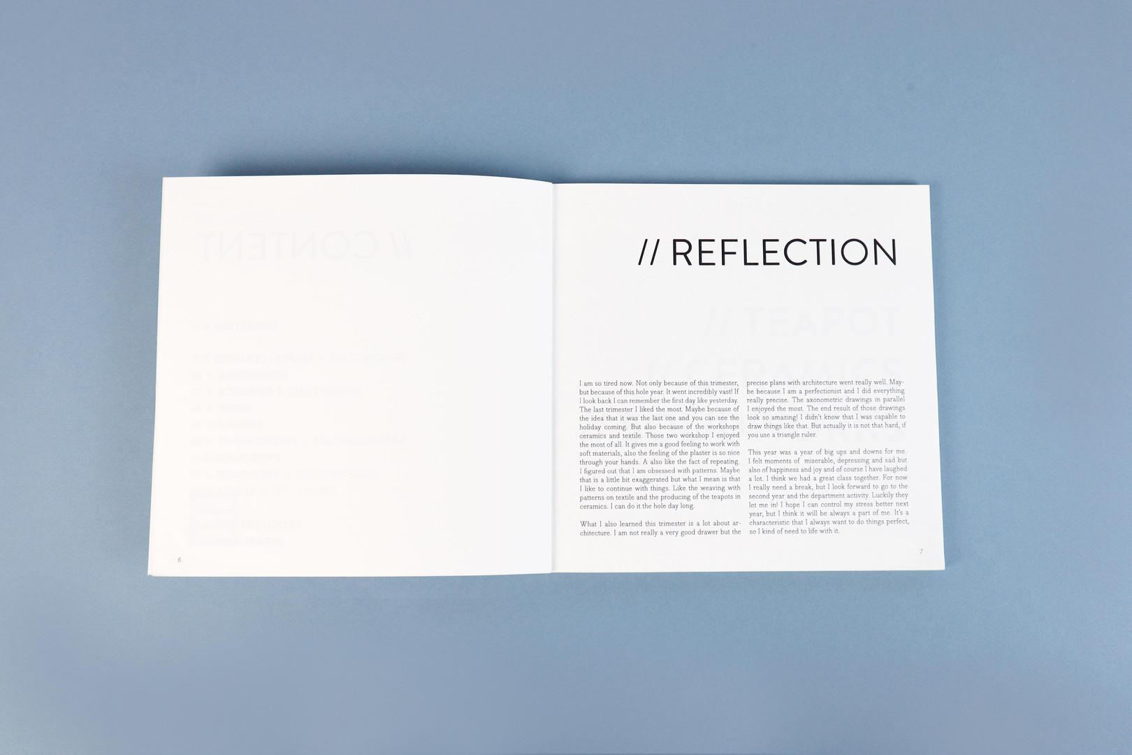 Processbook reflectie