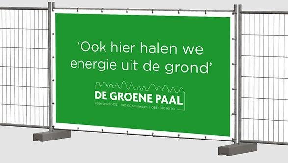 De Groene Paal bouwhek advertentie