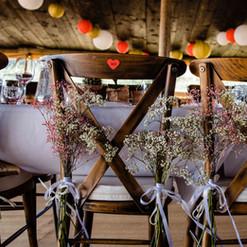 Bruidspaar stoelen diner