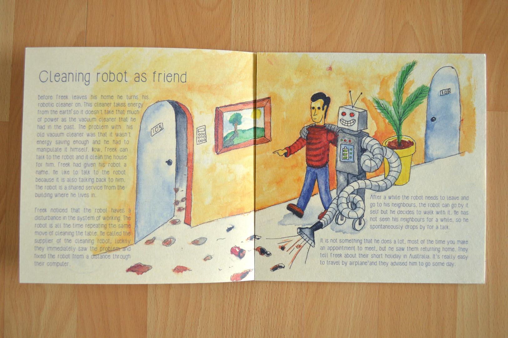 Verhaal 'Cleaning robot as friend'