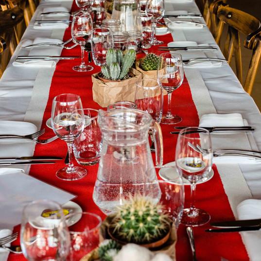 Diner tafel aankleding