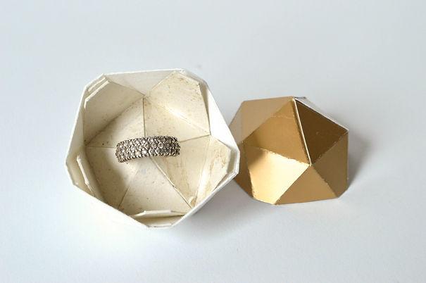 Paper diamond juwelenbox