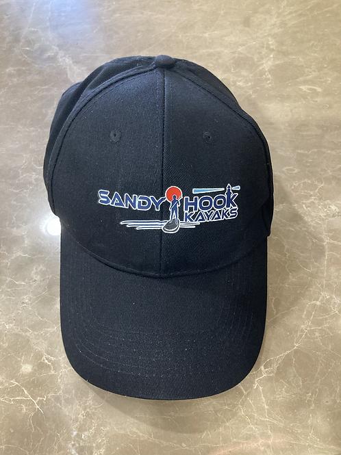 Sandy Hook Kayaks Baseball Cap Hat : Color BLACK